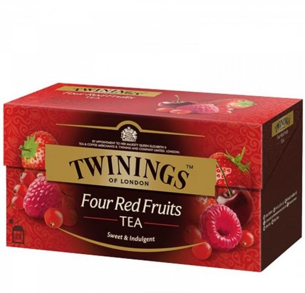 Чай Туинингс Четири Червени Плода 20 бр в Кутия