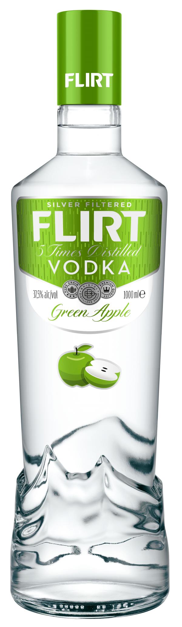 Водка Флирт Зелена Ябълка 1 л