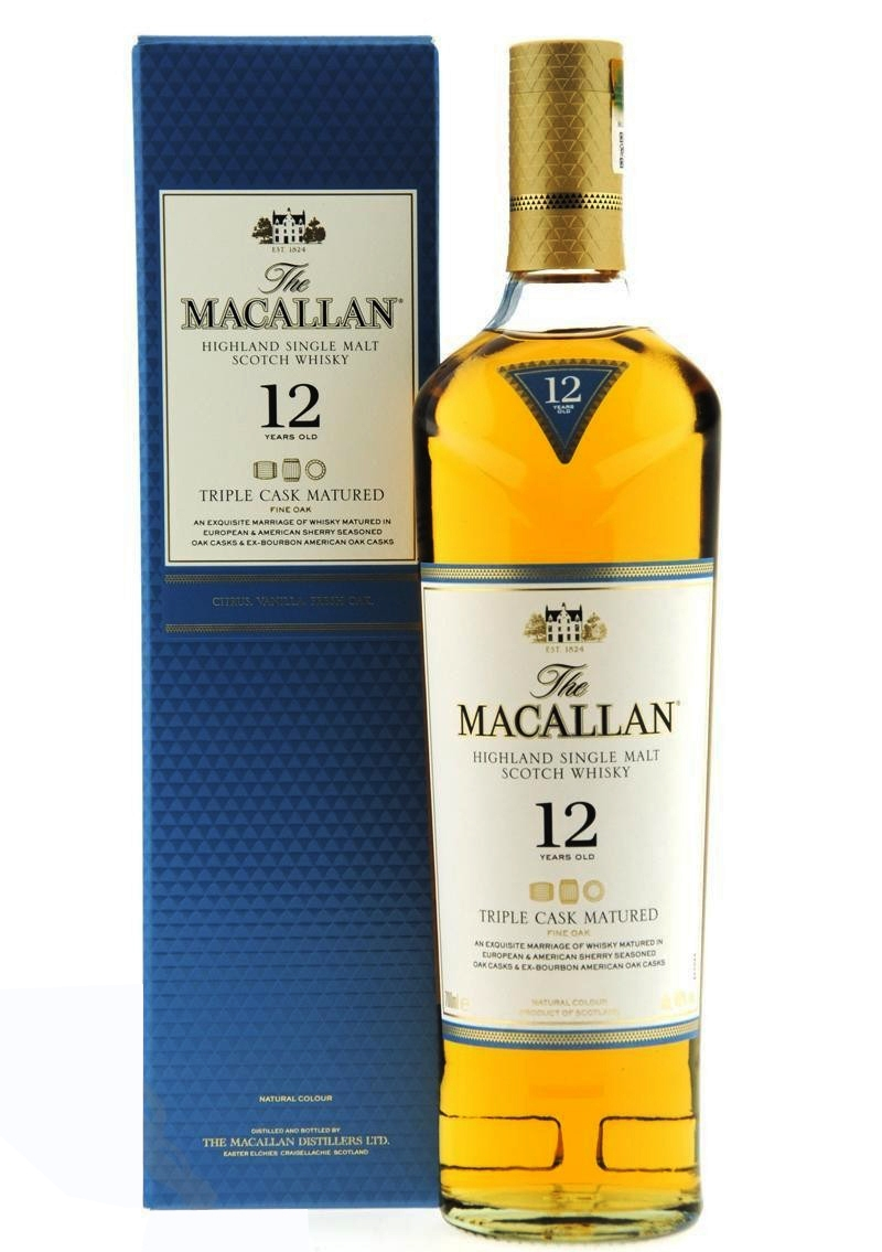 Уиски Макалън 12 годишен Трипъл Каск  0.7 л