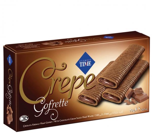 Мини Пурички Крепе Шоколад 65 гр Кутия
