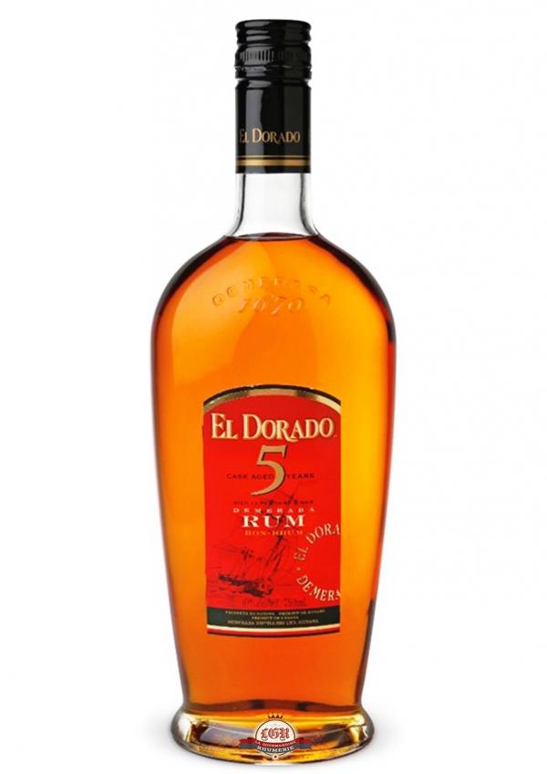 Ром Ел Дорадо 5 годишен 0.7 л