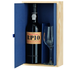 Порто Рамош Пинто 0.75 с Чаша в Дървена Кутия