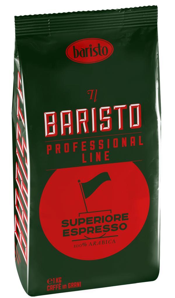 Кафе на Зърна Баристо Супериоре Еспресо 1 кг Черен