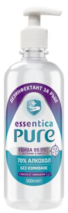 Дезинфектант за Ръце Essentica Pure 0.5 л с Помпа