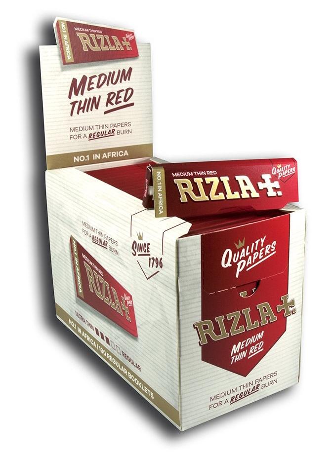 Хартийки за Цигари Rizla + Червен