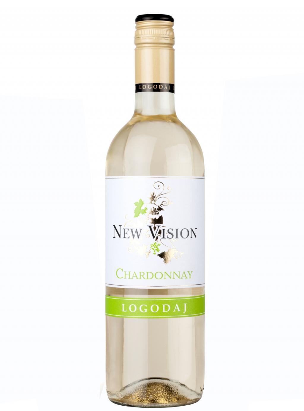 Бяло Вино Логодаж Ню Вижън Шардоне 0.75 л