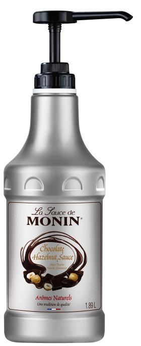 Сос Монин Тъмен Шоколад с Лешници 1.89 л