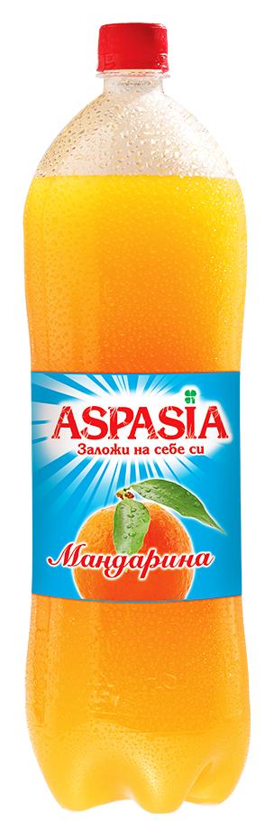 Газирана Безалкохолна Напитка Аспазия Мандарина 2 л