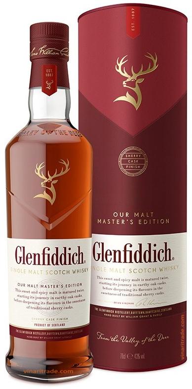 Уиски Гленфидих Малц Мастър Едишън 0.7 л