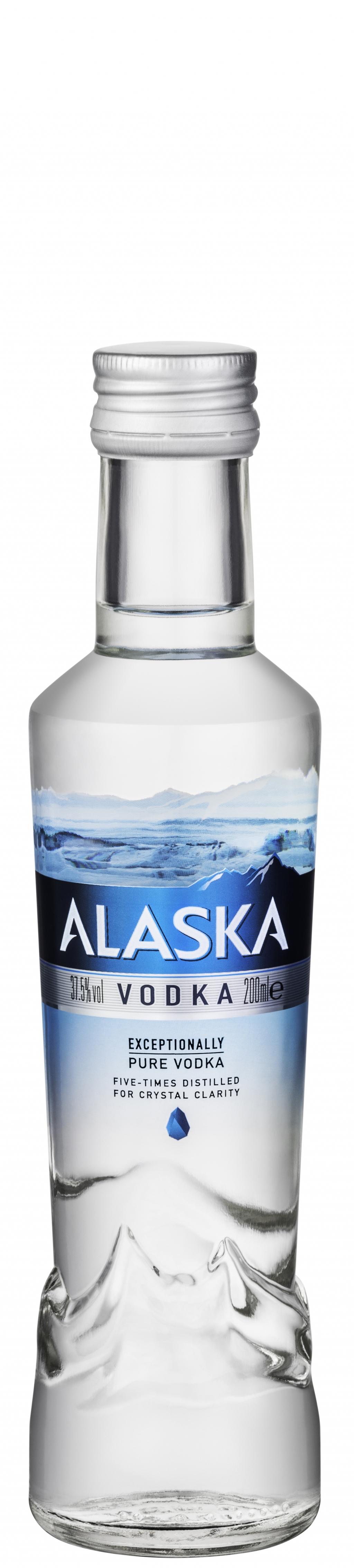 Водка Аляска 0.2 л Стъклена Бутилка