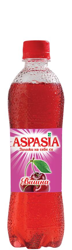 Газирана Безалкохолна Напитка Аспазия Вишна 0.5 л