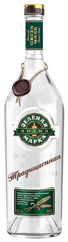 Водка Зельоная Марка Традиционная 0.7 л
