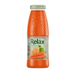 Релакс Ябълка, Морков и Портокал 100% Натурален Сок 0.200 л Стъклена Бутилка