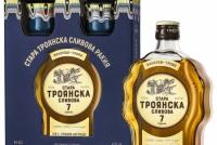Стара Троянска Сливова Ракия 7 годишна 0.5 л с 2 Керамични Чаши