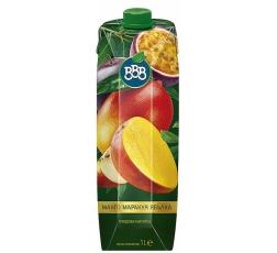 Плодова Напитка ВВВ Манго, Маракуя и Ябълка 1 л