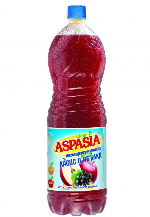Негазирана Напитка Аспазия Касис и Ябълка 2 л