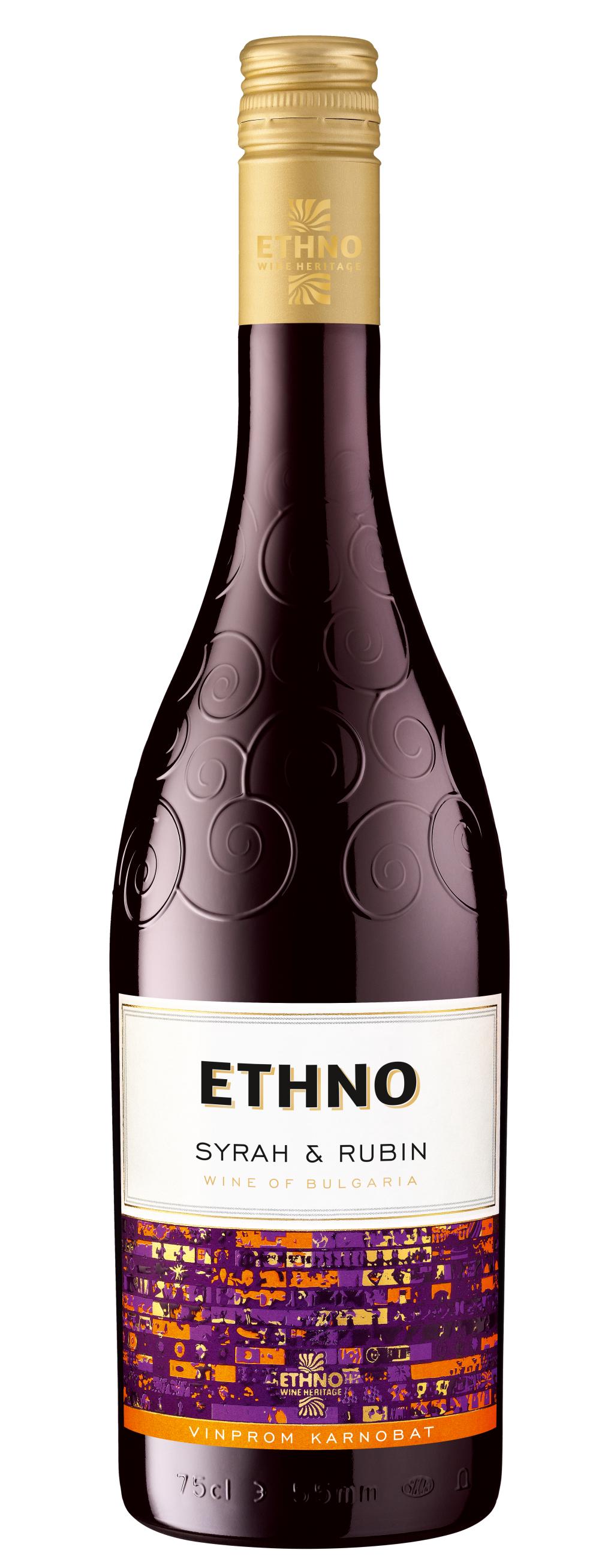 Червено Вино Етно Каберне Сира х Рубин 0.75 л