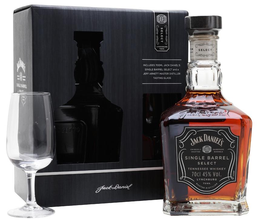 Уиски Джак Даниелс Сингъл Барел 0.7 л с Чаша
