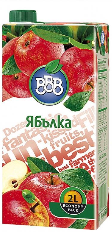 Плодова Напитка ВВВ Ябълка 2 л