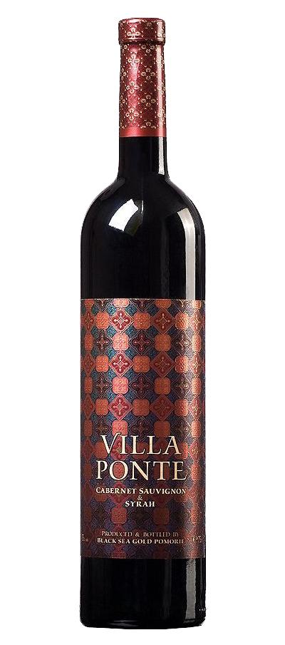 Червено Вино Вила Понте Каберне Совиньон х Сира Поморие 0.75 л