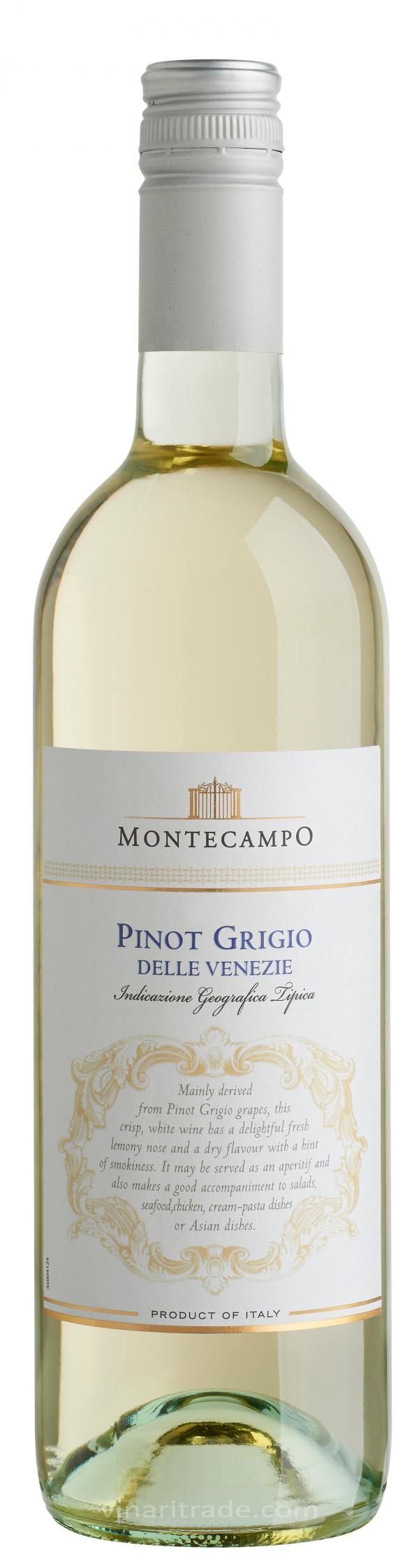 Бяло Вино Монтекампо Пино Гриджо 0.75 л