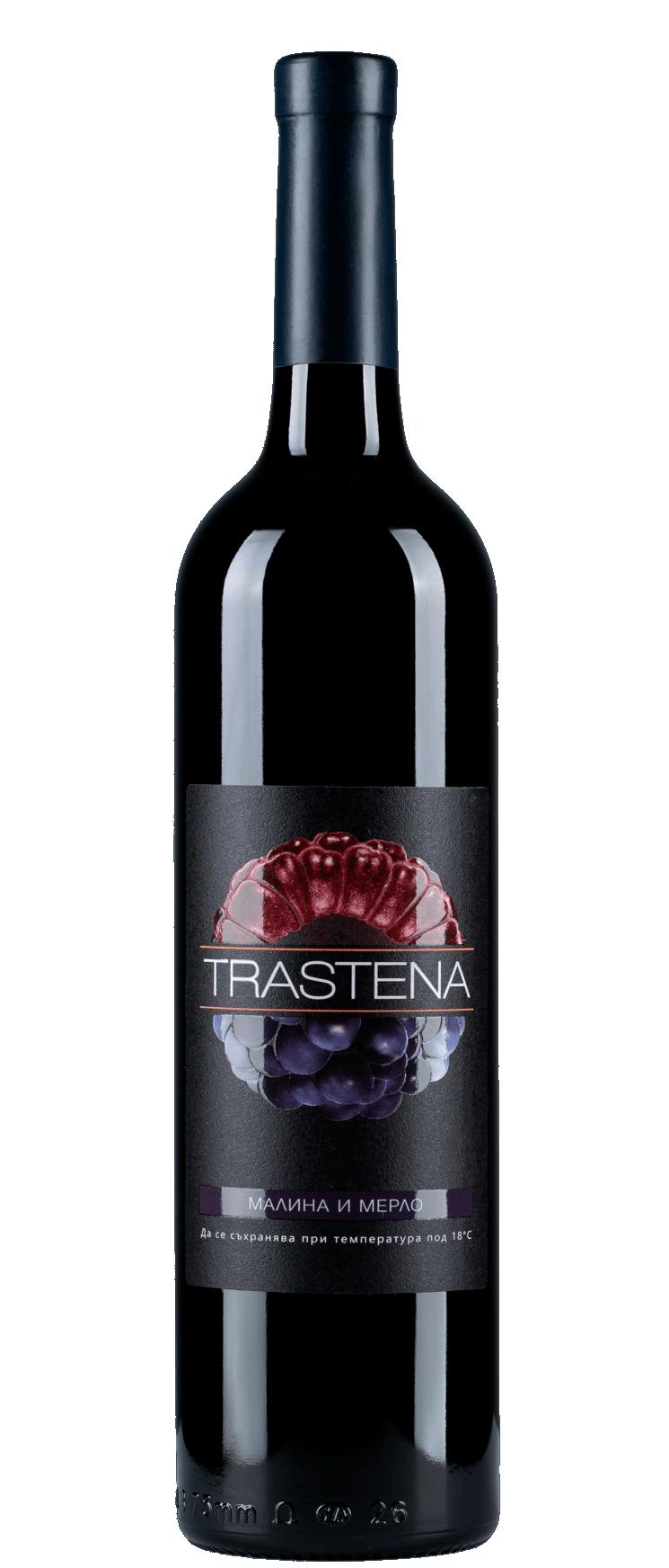 Малиново Вино Трастена Малина и Мерло 0.75 л