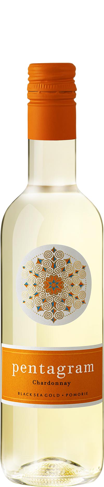 Бяло Вино Пентаграм Шардоне 0.375 л