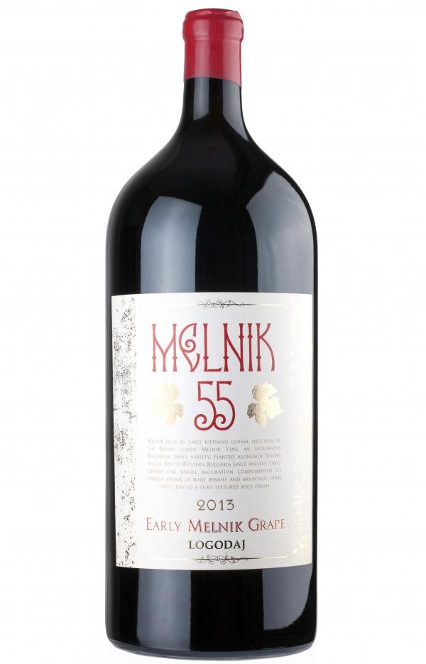 Червено Вино Логодаж Мелник 55, 6 л Магнум