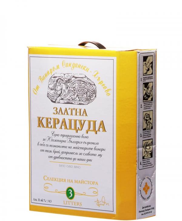 Бяло Вино Златна Керацуда Кресна 3 л, Бег ин Бокс