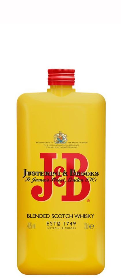 Уиски Джей енд Би 0.2 л Покет Бутилка