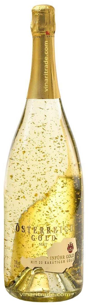 Пенливо Вино Йостерайх Голд със Златни Късчета 1.5 л Магнум