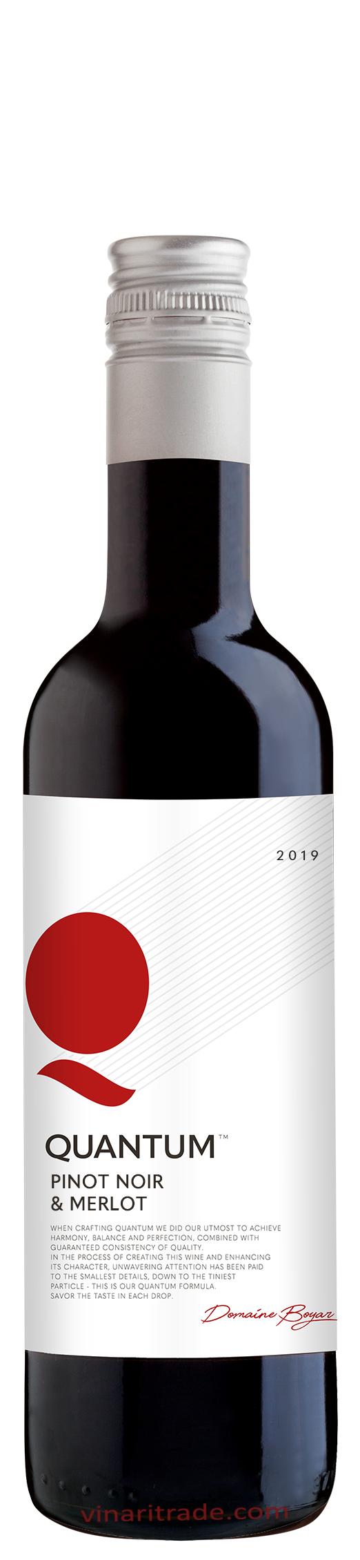 Червено Вино Квантум Пино Ноар х Мерло 0.375 л