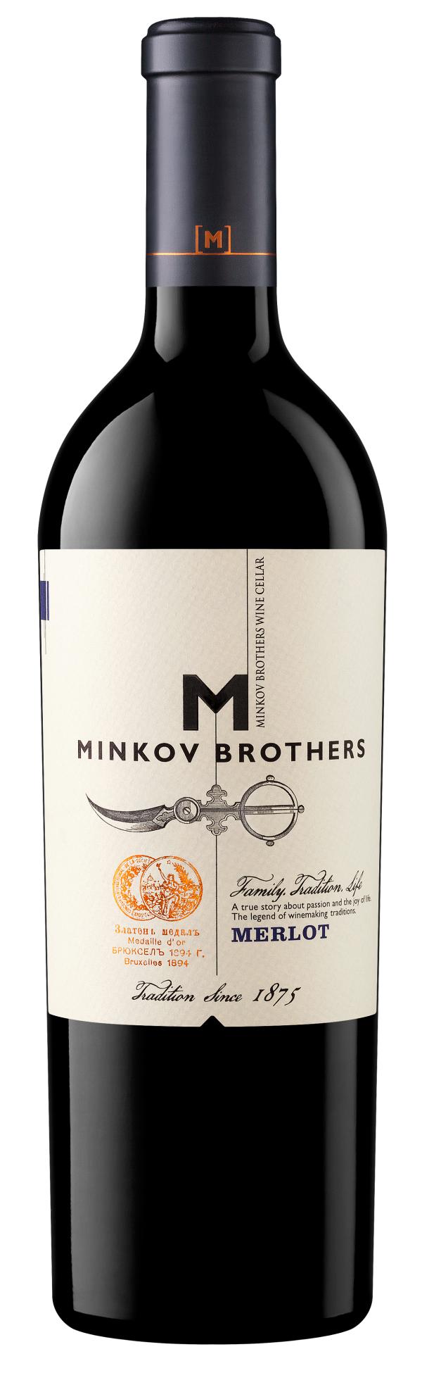 Червено Вино Братя Минкови Мерло 0.75 л