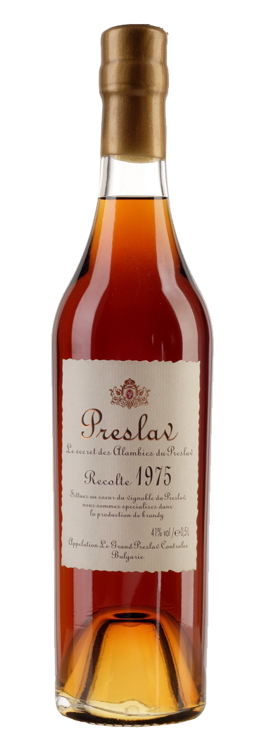 Бренди Преслав 1975 година 0.5 л