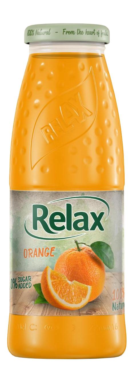Релакс Портокал 100% Натурален Сок 0.200 л Стъклена Бутилка