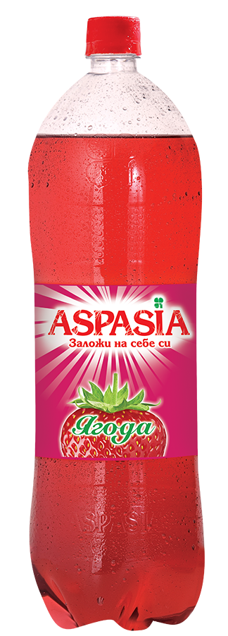 Газирана Безалкохолна Напитка Аспазия Ягода 2 л