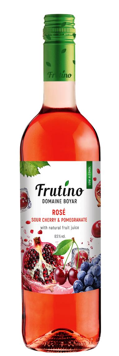 Плодово Вино Фрутино Розе с Вишна и Нар 0.75 л