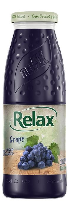Релакс Грозде 100% Натурален Сок 0.200 л Стъклена Бутилка