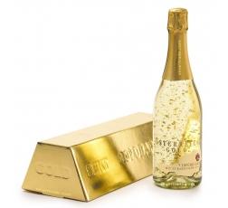 Пенливо Вино Йостерайх Голд със Златни Късчета 0.75 л в Кутия