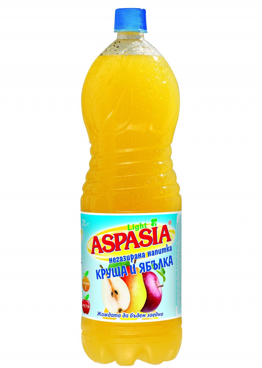 Негазирана Напитка Аспазия Круша и Ябълка 2 л