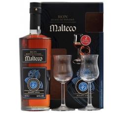Ром Малтеко 10 годишен 0.7 л с 2 Чаши