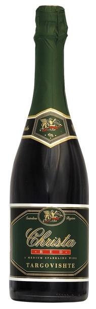 Пенливо Вино Криста Червено Търговище 0.75 л