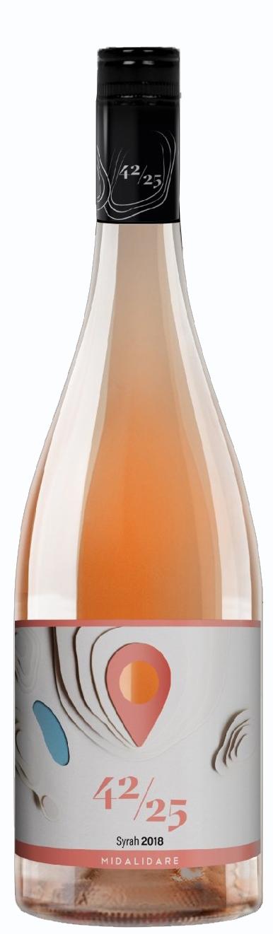 Вино Мидалидаре 42/25 Розе от Сира 0.75 л