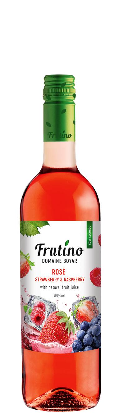 Плодово Вино Фрутино Розе с Ягода и Малина 0.375 л