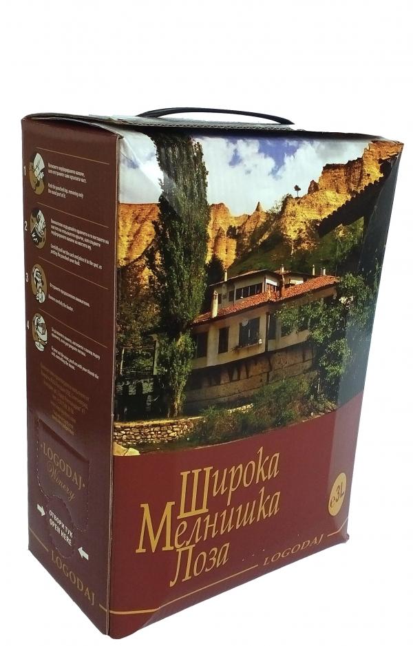 Червено Вино Логодаж Широка Мелнишка Лоза 3 л