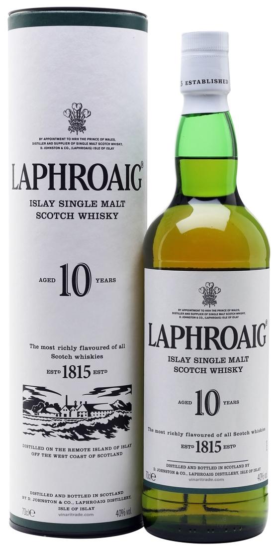 Уиски Лафройг 10 годишен 0.7 л