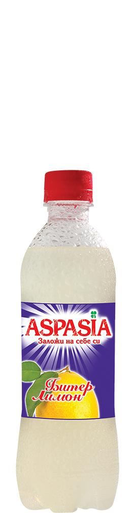 Газирана Безалкохолна Напитка Аспазия Битер Лимон 0.330 л