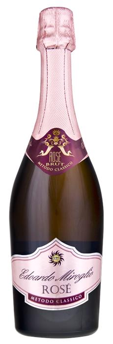 Едоардо Миролио Естествено Пенливо Вино Брут Розе от Пино Ноар 0.75 л