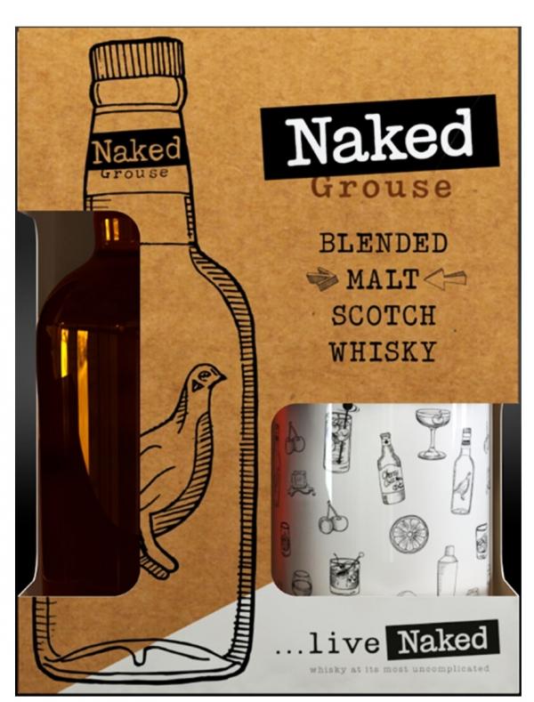 Уиски Нейкед Граус 0.7 л с Метално Канче