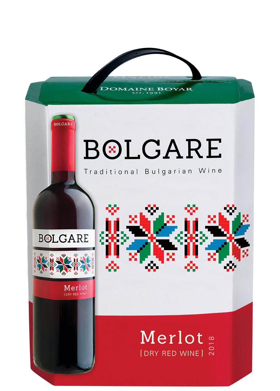 Червено Вино Болгаре Мерло 3 л